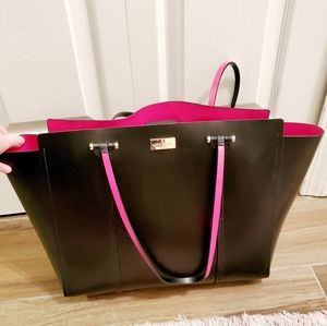 Kate Spade Black & Hot Pink Tote